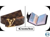 Men s Black Leather Card Holder Louis Vuitton Damier Ebene B