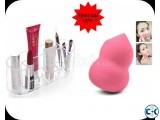 Combo Offer Oval Shape Cosmetics Holder Foundation Blender
