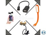 Combo of Mobile Fan USB Light Mobile Stand OTG Cable