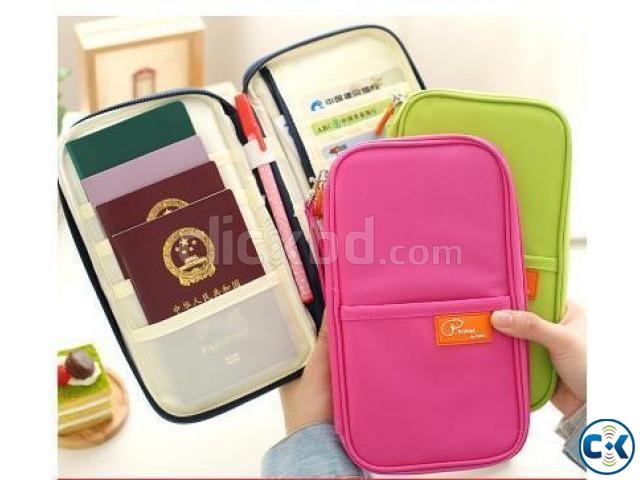 Multifunction Fashion Passport Wallet Traveler | ClickBD large image 0