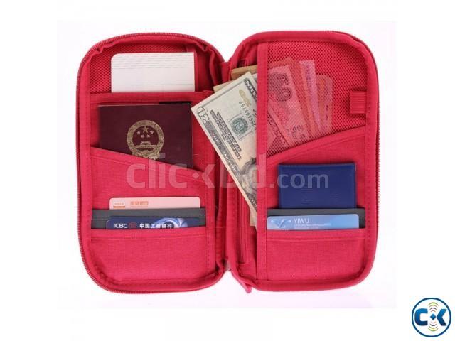 Multifunction Fashion Passport Wallet Traveler | ClickBD large image 1