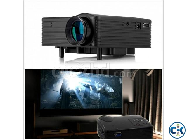 Portable home theater LED Mini Projector H100 | ClickBD large image 0