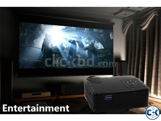 Portable home theater LED Mini Projector H100 | ClickBD large image 1