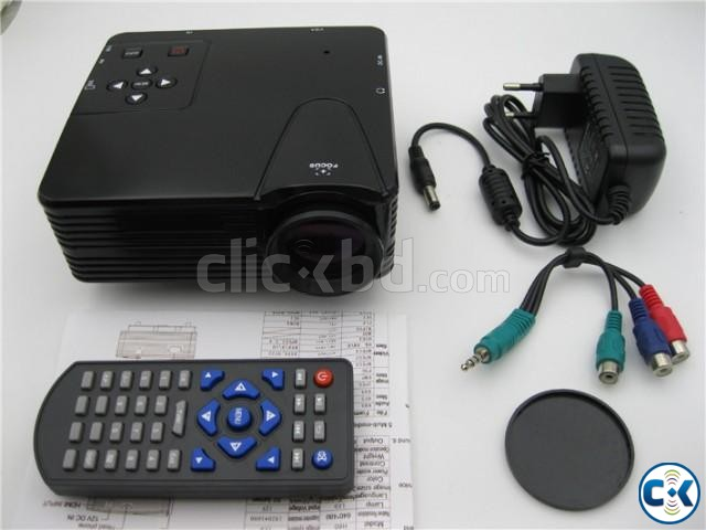 Portable home theater LED Mini Projector H100 | ClickBD large image 2