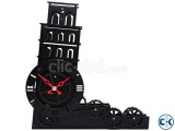 Gear Clock Leaning Tower of Pisa - HY-G117 intact
