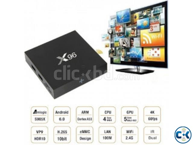 X96 4K Quad Core 2GB RAM Android Smart TV Box | ClickBD large image 2