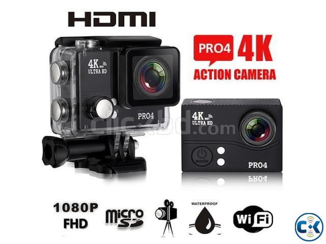 Pro4 WIFI Action Camera 4K 30FPS 2.0 LCD | ClickBD large image 0