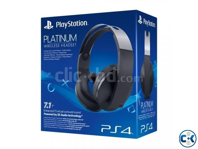 Sony PlayStation 4 Platinum Wireless Headset | ClickBD large image 0