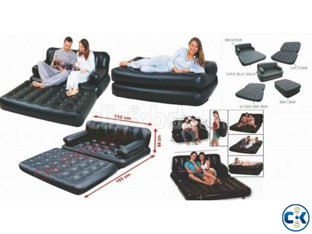 5 in 1 Inflatable Sofa Bed | ClickBD large image 0
