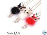 Fox Women Necklace Long Sweater Chain Zinc Alloy Pendant