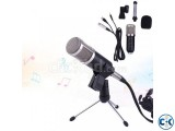 USB Condenser Sound Recording Wired Microphone with stand