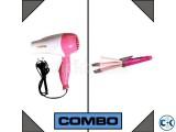 Combo of Nova Hair Dryer + Nova 2 In 1 Hair Iron