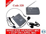 CEER PROFESSIONAL WIRELESS MICROPHONE HEADSET LAPEL CLIP o