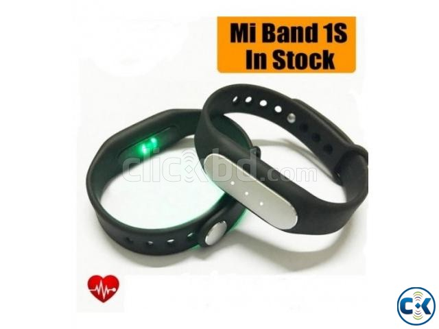 Original Xiaomi Mi Band 1S Heart Rate Wristband With LED | ClickBD large image 0