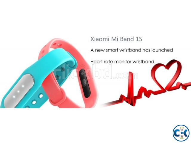 Original Xiaomi Mi Band 1S Heart Rate Wristband With LED | ClickBD large image 1