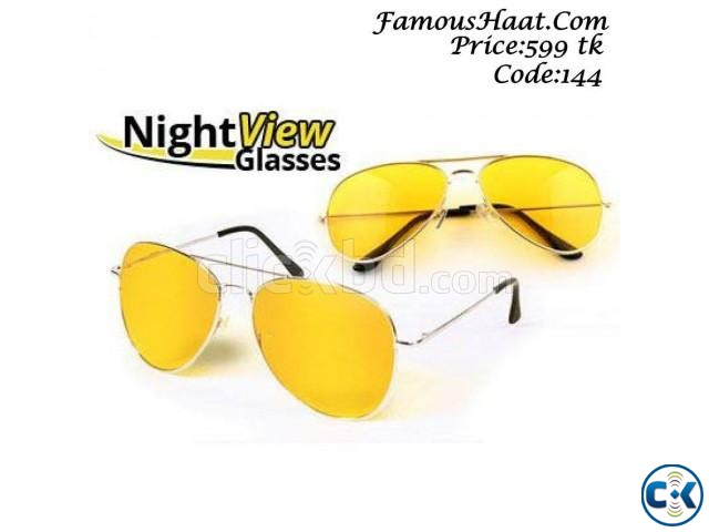 Night Vision Driving Yellow Men s Glasses | ClickBD large image 0