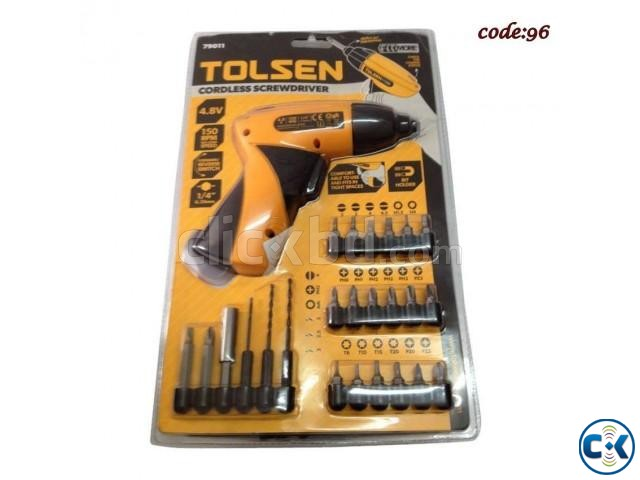 Cordless Screwdriver Set With Drill Machine | ClickBD large image 0