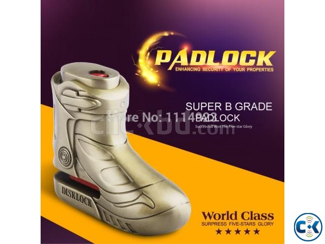 Motorcycle shoe shape disc brake lock | ClickBD large image 0