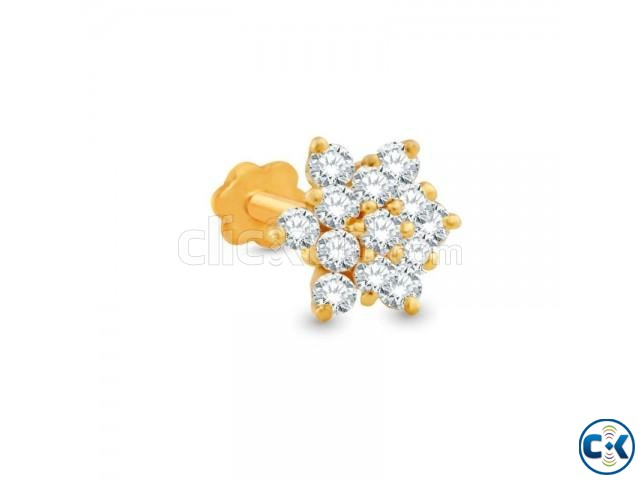 Diamond With Gold Nose Pin Big Size Clickbd