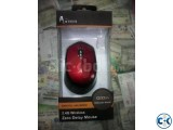 A.Tech Wireless Mouse - Red