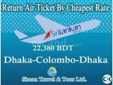 Return Air Ticket Dhaka-Colombo-Dhaka