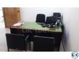 Otobi Senior Executive Desk With Drawer and Glass Top