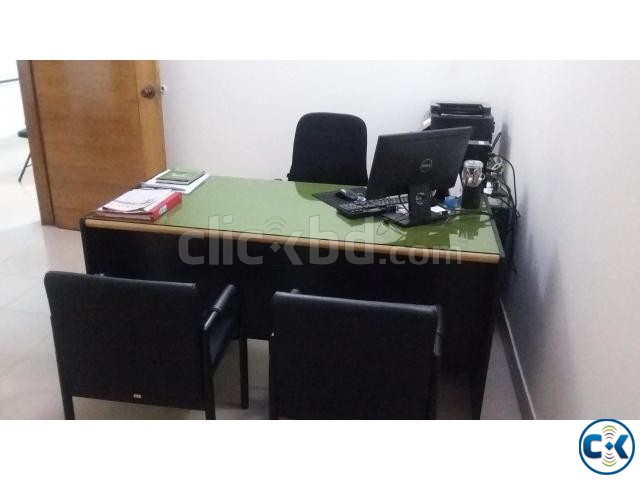 Otobi Senior Executive Desk With Drawer and Glass Top | ClickBD large image 0