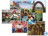 Balloon arch balloon column