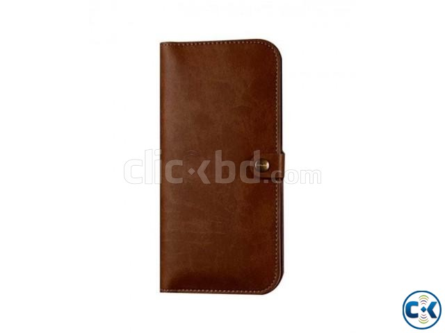 JLW Wallet Leather Protective Cover Business Style - Brown | ClickBD large image 1