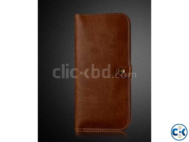 JLW Wallet Leather Protective Cover Business Style - Brown | ClickBD large image 2