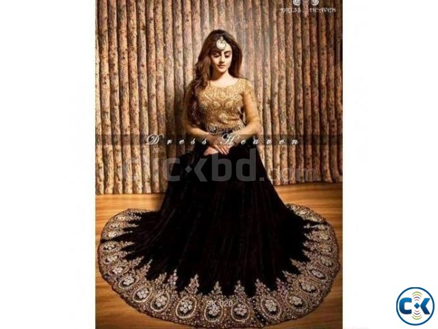 indian georgette with embroidery dress | ClickBD large image 0