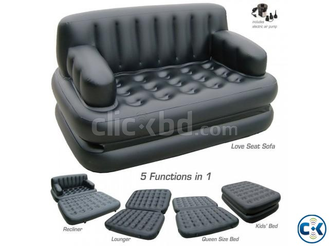 5in1 Air-O-Space sofa bed | ClickBD large image 4