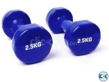 Vinyl Dumbbell Sky Blue -3 KG 1Pcs