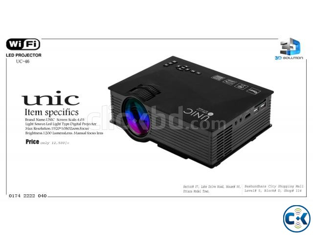 Multi-Media WIFI Projector UNIC UC-46 | ClickBD large image 0