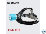 Dual Light Source ZOOM Rechargeable Headlamp