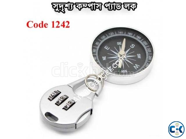 Compass and Pad Lock | ClickBD large image 0