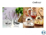 Combo Offer - Spoon Set With Swan Stand 1pc Swan Sugar Bowl