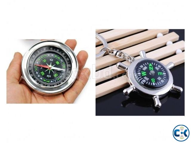 Combo Offer Compass Key Ring Hi-grade Stainless Steel Comp | ClickBD large image 0