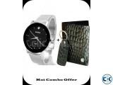 Combo of Apple Leather Wallet Bariho Men s Wrist Watch