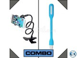 Combo of Mobile Phone Tablet Long Stand USB LED Light