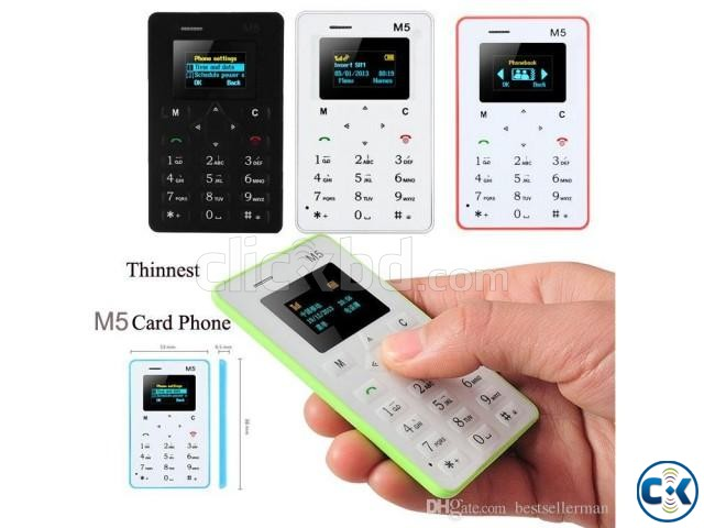 AIEK M5 Mini Card Phone 1299  | ClickBD large image 1