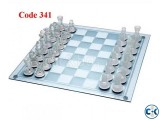 Hi-Quality Glass Chess Set Code 341