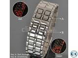 Samurai LED Watch Silver