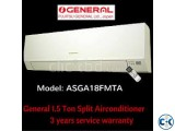 ASGA18FMTA General 1.5 Ton Split Type AC Price in Banglades
