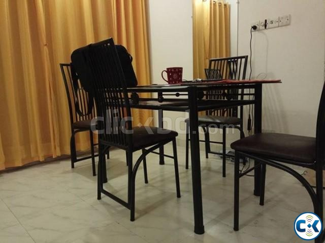 Dining table with four chairs | ClickBD large image 1