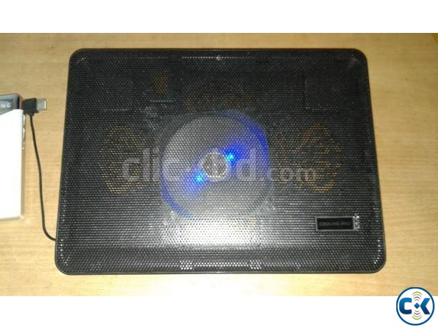 Folding Laptop Table Laptop Cooling Fan and | ClickBD large image 0
