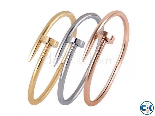 Titanium Luxury Brand Stylish Screws Bangle Bracelets -1pc | ClickBD large image 0