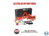 Portable 3 tons 12v electric car jack and Impact wrench set