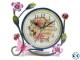 FLOWER PATTERNED TABLE CLOCK