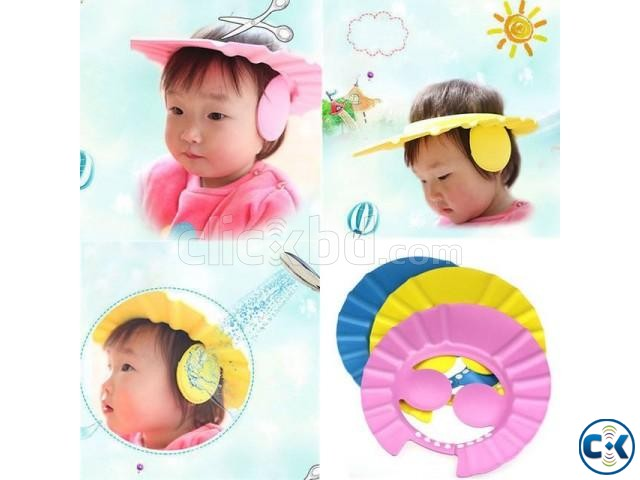 Baby Bath Shower Cap With Ear Protection | ClickBD large image 0